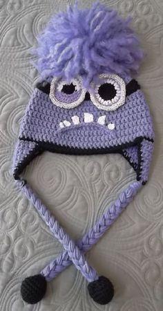 Crocheted Purple Minion Hat