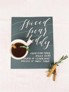 Spiced Pear Toddy Recipe: http://www.stylemepretty.com/living/2015/10/13/spiced-pear-toddy-recipe/   Photography: Krista A. Jones - http://kristaajones.com/