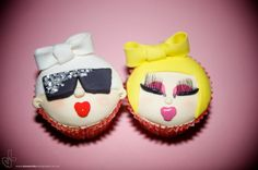 Lady Gaga Cupcakes! I'm thinking for my birthday this year Gaga theme! The boys are going to love that lol!