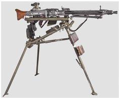 peashooter85:  World War II German MG 42 machine gun with tripod, manufactured in 1943.