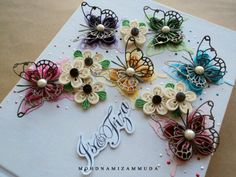 Quilled butterfly card by Namizam Muda