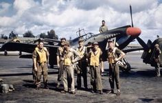 North American A-36 Apache pilots get together for a picture.