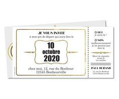 Carte D Invitation Depart Retraite Ticket Retraite Invitation