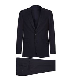 BURBERRY Single-Breast Wool Suit. #burberry #cloth #