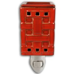 RED WOVEN PLUG IN FRAGRANCE WARMER - WAX MELTER by Boulevard