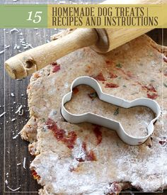 15 Homemade Dog Treats Recipes and Instructions | This dog biscuit recipe will get your dog's tail wagging, and keep some extra money in your pocket. #pioneersettler