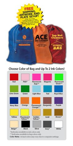"""Counter Bag Custom Printed 22"""" x 28"""" 