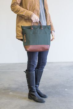 R.Riveter Otto • Green Class A + Brown Leather