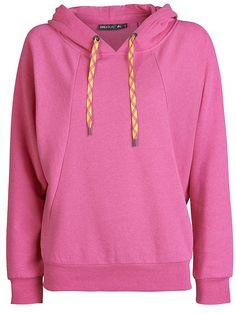 Only Play Sweatshirt von ONLY PLAY., Schöner weicher Sweat-Stoff., Kapuze mit kontrastfarbenen Kordelzügen., Ripp am Abschluss und unten an beiden Ärmelenden., ONLY PLAY-Logo an der Rückseite in gleicher Farbe am Sweater., Länge: 63 cm in GrößeM., Das Model ist 176 cm groß und trägt Größe S.,   55% Baumwolle, 45% Polyester...