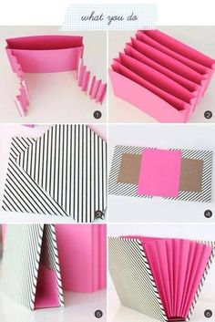 DIY Stationary Organizer diy craft crafts easy crafts craft idea diy ideas home diy easy diy home crafts diy craft classeur a soufflets Stationary Organization, Diy Organization, Diy Organizer, Diy Stationary Storage Ideas, Organizing Crafts, File Folder Organization, Organizing Paperwork, Scrapbook Organization, Diy Projects To Try