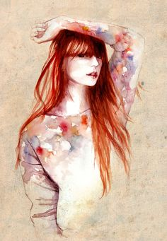 redhead #illustration via http://www.pinterest.com/melodaze/fashionable-illustrations/