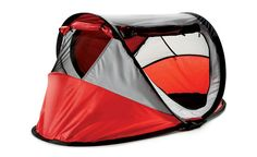 Leave that bulky Pack 'n Play at home. The KidCo PeaPod Plus travel bed -- a pop-up tent with blow-up mattress perfect for kids up to age six -- weighs just 6.9 pounds and folds up into a carry-on case. It even has UV protection and a windscreen for naps on the beach. target.com, $90.  (Sam Kaplan) From: 9 Essential Travel Products For Kids.