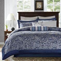 Bed Comforter Sets, Queen Size Bedding, Bedroom Comforters, Navy Blue Comforter Sets, Luxury Comforter Sets, Navy Bedding, Bedding Shop, Khadra, Bedding Sets Online