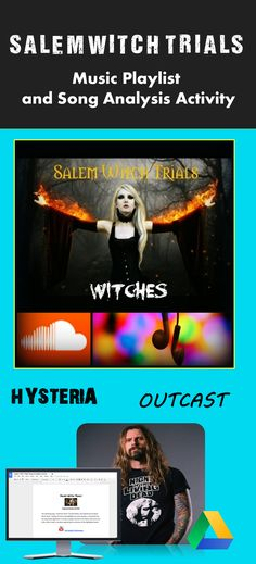 Teach students about the Salem Witch Trials using high-interest, modern activities and digital resources! Perfect supplement for teaching The Crucible, The Scarlet Letter, or in providing background information to students on early American History.