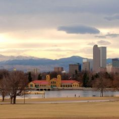 Early spring day in City Park, Denver