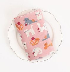 Cute Cats Cotton by the yard width 44 inches 87890 Pale Pink