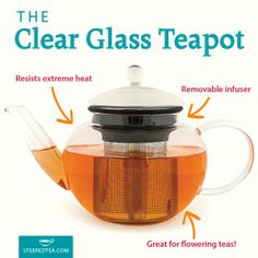 Just got my glass teapot today and it is so pretty. I can't wait to use my flowering volcano balls or one of my fruit teas www.mysteepedtea.com/JANETCOTE