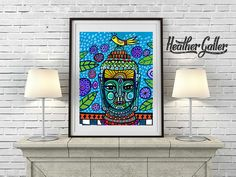 50% Off - Buddha art Poster Print of painting by Heather Galler