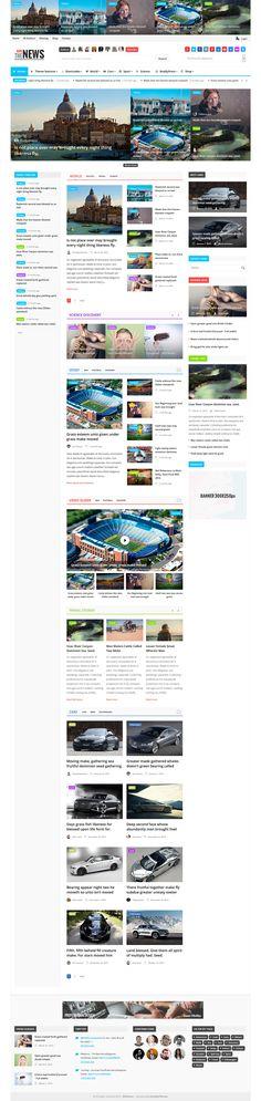 EliteNews - Magazine WordPress theme #wptheme #web Live Preview and Download: http://themeforest.net/item/elitenews-magazine-wordpress-theme/10807799?ref=ksioks