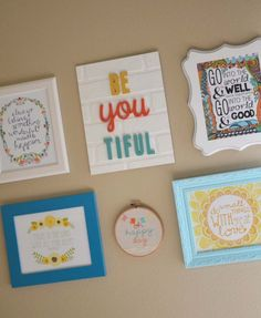 Inspiration wall collage.