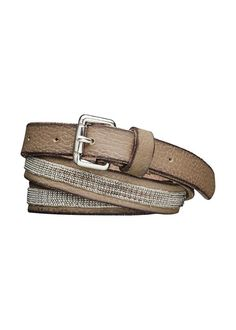 Smalt bælte 23906 Skinny Belt With Silver Chain - tabacco