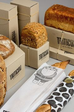 I simply love the packaging of these breads. It speaks of the pride they take in their creations!  Triticum designed by Lo Siento