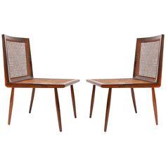 """Pair of """"Cadeira Baixa""""designed by Joaquim Tenreiro, c. 1950. Manufactured by Tenreiro Movéis e Decoraçoes, Brazil, c. 1955."""