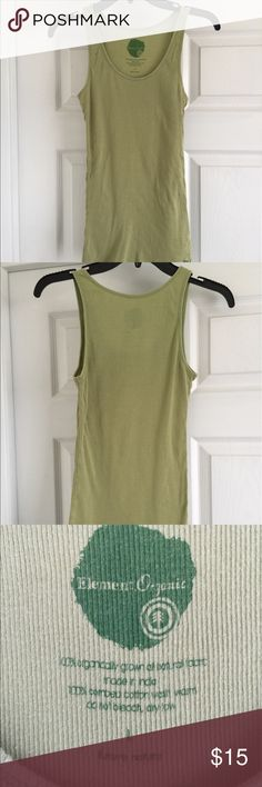 Element Organic tank top Olive green tank top. Very comfortable. Element Organic Tops Tank Tops