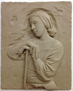 16in x 13in peasant woman on break by Sutton Betti