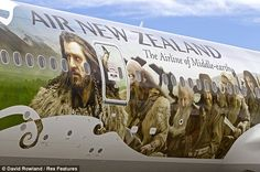 Thorin on an Air NewZealand plane: the airline of Middle Earth. Wrap Advertising, Mobile Advertising, Air New Zealand, New Zealand Travel, Removable Wall Stickers, Car Wrap, New Age, Yahoo Images, The Hobbit