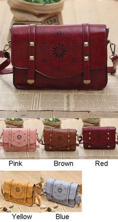 Geometry Hollow Retro Rivet Summer Shoulder Bag for big sale! #retro #rivet #summer #bag #hollow