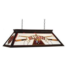 RAM Gameroom Products Billiards Stained Glass Billiard Light - 44W in. Red