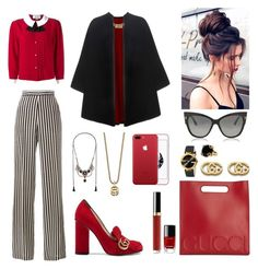 """Be brave wear red!"" by xenija-kaluza on Polyvore featuring Etro, Gucci, Burberry, Chanel and Tom Ford"
