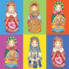 4 X Single Vintage Table Paper Napkins- Matryoshka / Craft / Decoupage Paper Napkins For Decoupage, Princess Zelda, Disney Princess, Vintage Table, Paper Dolls, Disney Characters, Crafts, Etsy, Scrapbooking