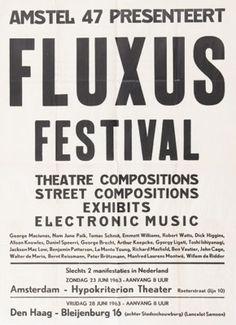 Poster for FLUXUS FESTIVAL. 1963