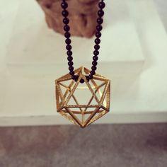 Convex Polyhedra ketting 3D Printed steel