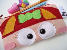 Porta lápis de feltro