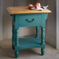 Teal Provence Side Table