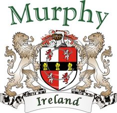 Murphy coat of arms. Irish coat of arms for the surname Murphy from Ireland. View your coat of arms at http://www.theirishrose.com/#top_banner or view the Murphy Family History page at http://www.theirishrose.com/pages.php?pageid=43