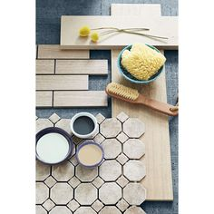 Shop Style Selections Leonia Sand Glazed Porcelain Mosaic Subway Indoor/Outdoor Listello Tile (Common: 12-in x 12-in; Actual: 11.75-in x 13.75-in) at Lowes.com