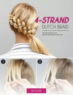Seriously, you HAVE to give the four-strand braid a try. #HairTutorial #DutchBraid
