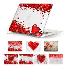 awesome New Romantic gifts for Girl red hearts Print Cover 13 15 inch Macbook Pro With Retina laptop Case for Macbook Air 11.6 12 13.3