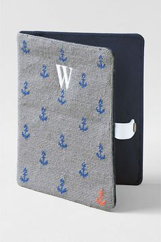 Lands' End Needlepoint iPad Case. Perfect for beach reading :)