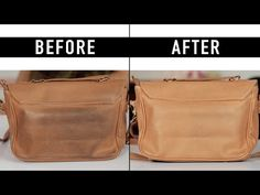 How to Clean a Leather Bag - All For Fashions - fashion, beauty, diy, crafts, alternative health Clean Leather Purse, Leather Skin, Leather Purses, Leather Handbags, Leather Wallet, Leather Bag Pattern, Diy Purse, Leather Conditioner, Vintage Coach