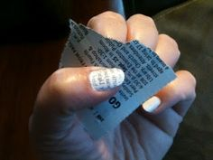 Print on your nails with newspaper! really cool! lots of other things on this link to, includeing a nail hardening recipe.