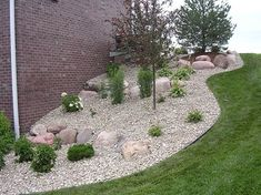 landscape edging with river rock - Google Search