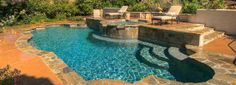 classic inground pools with spa