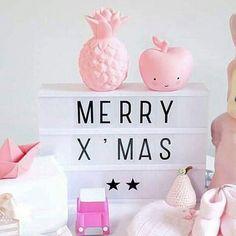Merry Morning! ❤ #pineapplelight #applelight #pinklove #makingxmaslovely ❤#alittlelovelycompany @minimkids