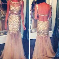 无背舞会礼服,美人鱼舞会礼服,亮片舞会礼服,金舞会礼服,舞会礼服
