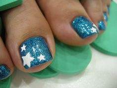 know that they can, nail color any Another easy design for a toenail ...